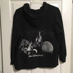 Walt Disney World Sz 2XL Full Zip Hoodie Black